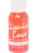 Liquid Love Warming Massage Lotion 1 Ounce Cherry