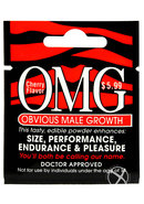Omg Obvious Male Growth Edible Powder Enhancer Cherry...